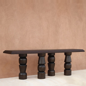 El Templo Console Table Size: 22 x 96 x 30 H inches Espresso Finish Sealed Topcoat