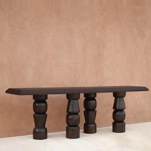 El Templo Console Table Size: 22 x 84 x 30 H inches Espresso Finish Sealed Topcoat