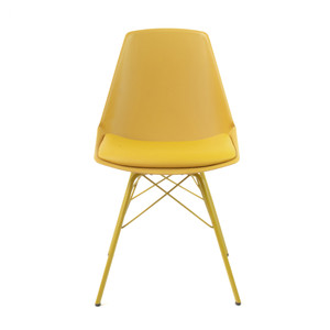 Spirit Chair - Yellow 16 x 19 x 32.75 H inches, 19 inch seat height  Polypropylene, Metal