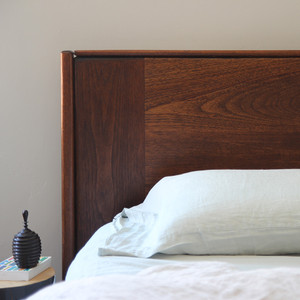 León Cedar Wood Headboard King - 83 x 4 x 48 H inches Honey Brown Finish Sealed Topcoat