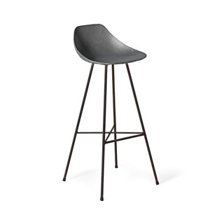 Get the Scoop Barstool 17 x 17 x 38.5 H inches (32 inch seat height) Concrete, Iron