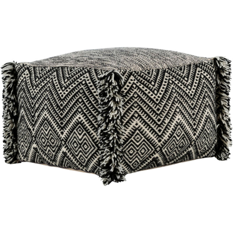 Katniss Pouf - SPF-001 20 x 20 x 14 H inches Wool