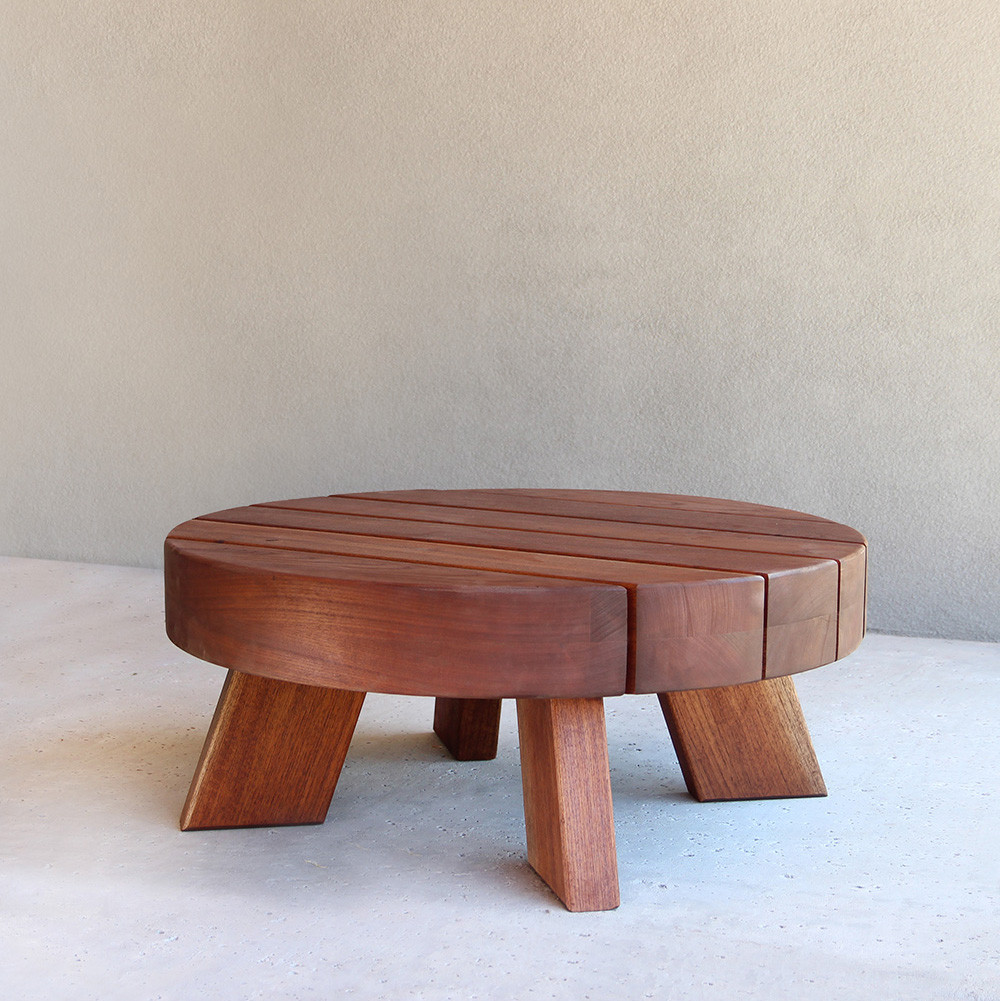 Uli Outdoor Cocktail Table  40 dia x 18 H inches Spanish Cedar Coffee