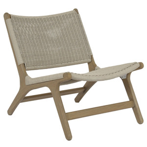 Cambria Teak Accent Chair 25 x 29.5 x 27 H inches, 17 inches seat height Teak, Resin