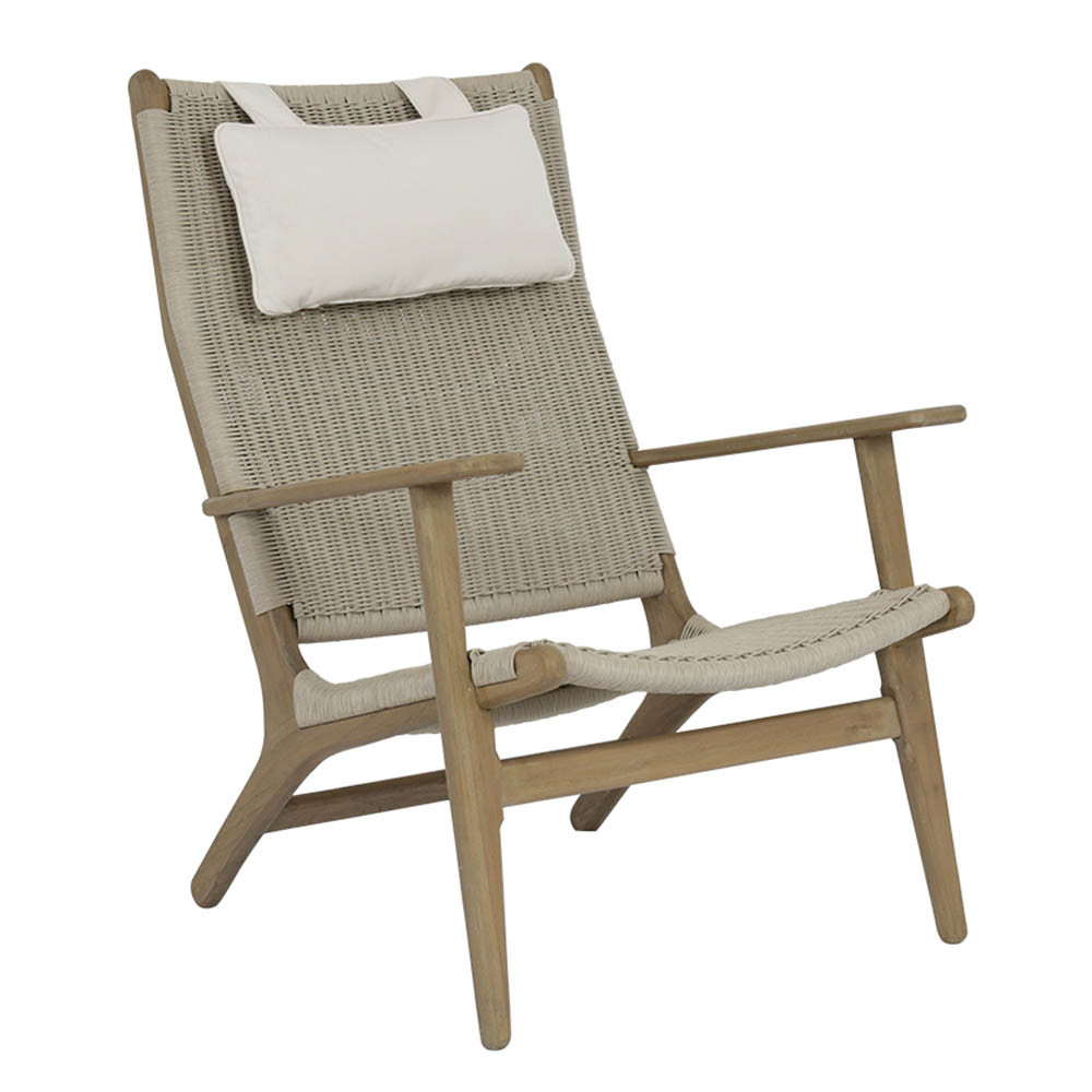 Cambria Teak High Back Chair 29 x 32.5 x 40 H inches, 24.5 inches seat height Teak, Resin