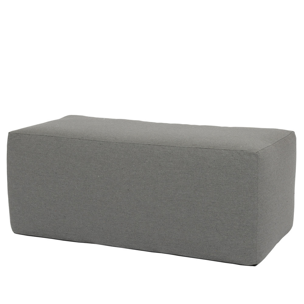 Mendocino Outdoor Ottoman 48 x 24 x 19 H inches High-Resiliency Foam, Fabric