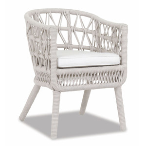 Dana Rope Dining Chair 26 x 23 x 33 H inches, 17 inch seat height Aluminum, Canvas