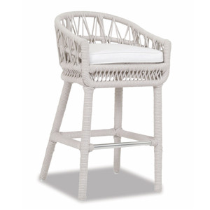 Dana Rope Barstool 22 x 22 x 39 H inches, 31 inch seat height Aluminum, Canvas