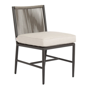 Pietra Dining Chair  19 x 25 x 32 H inches, 19 inch seat height Aluminum, Canvas