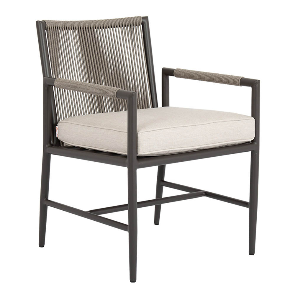 Pietra Dining Chair  23 x 25 x 32 H inches, 19 inch seat height Aluminum, Canvas