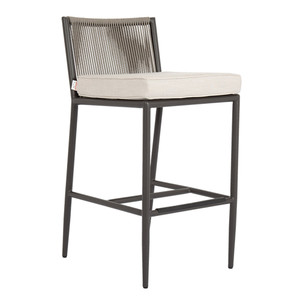 Pietra Barstool 25 x 20 x 41 H inches, 31 inch seat height Aluminum, Canvas