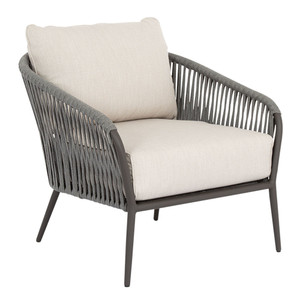 Florence Club Chair 33 x 38 x 30.5 H inches, 19 inches seat height Aluminum, Canvas