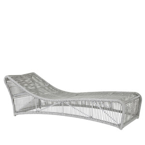 Milano Chaise 28 x 77 x 24 H inches Aluminum, Rope Frost