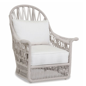 Dana Wing Chair 37 x 35 x 43 H inches, 16 inch seat height Aluminum, Canvas