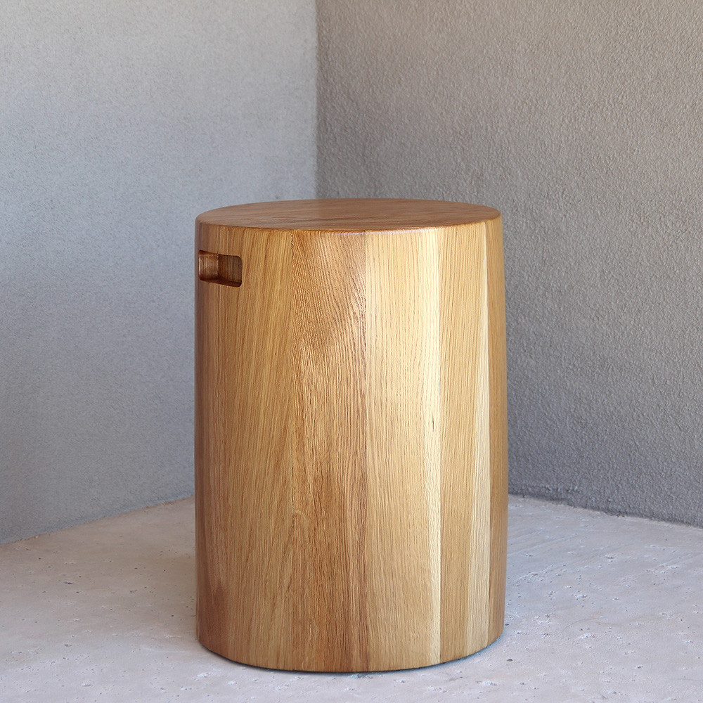 Xarles Occasional Table 16 dia x 22 H inches White Oak Sealed Topcoat