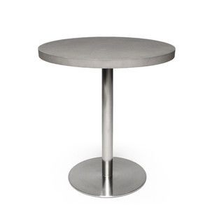 Marceau Bistro Table 27.5 dia x 29.5 H inches Concrete, Stainless Steel