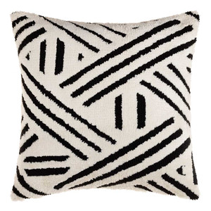 Sheldon Black and White Geometric Pillow - SDO-002 20 x 20 inches Acrylic, Cotton Style A