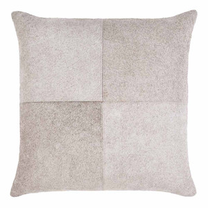 Zavala Cowhide Pillow - ZVA-003/004 18 x 18 H inches Hair-On-Hide Light Grey