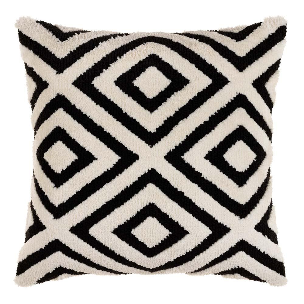 Miranda Black and White Geometric Pillow - SDO-003 20 x 20 inches Acrylic, Cotton