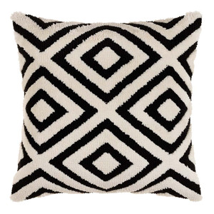 Miranda Black and White Geometric Pillow - SDO-003 20 x 20 inches Acrylic, Cotton