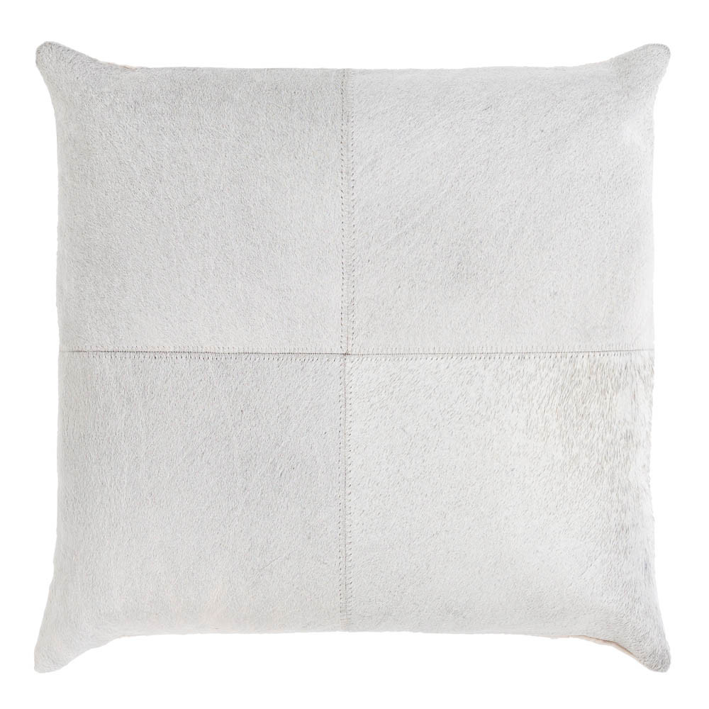 Zarela Cowhide Pillow - ZVA-003/004 18 x 18 H inches Hair-On-Hide Cream
