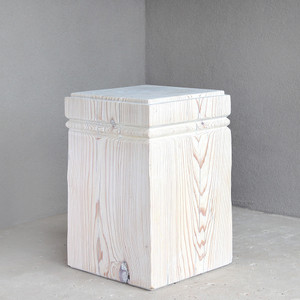 Doric Cyprus Cube Table 14 x 14 x 21 H inches White Mist