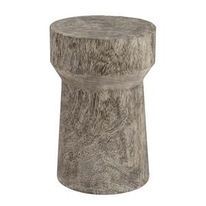 Abu Abu Grey Wash Stool Table - TH96667 12 dia x 18 H inches Chamcha Wood