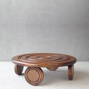 Bagnole Cocktail Table  36 dia x 12 H inches Spanish Cedar Chestnut Brown