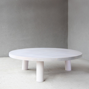 Maxime Cocktail Table 48 dia x 12 H inches White Oak White Wash