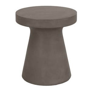 Tack Accent Table - 4611.SLA-GRY 17.75 dia x 19.75 H inches Concrete Slate Grey