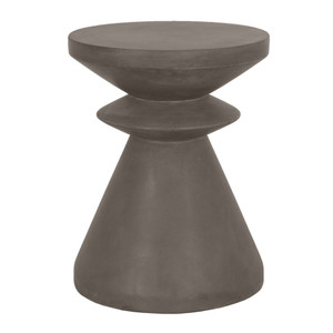 Pawn Accent Table - 4612.SLA-GRY 13.75 dia x 17.75 H inches Concrete Slate Grey