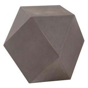 Facet Accent Table - 4613.SLA-GRY 17.5 x 17.5 x 19 H inches Concrete Slate Grey