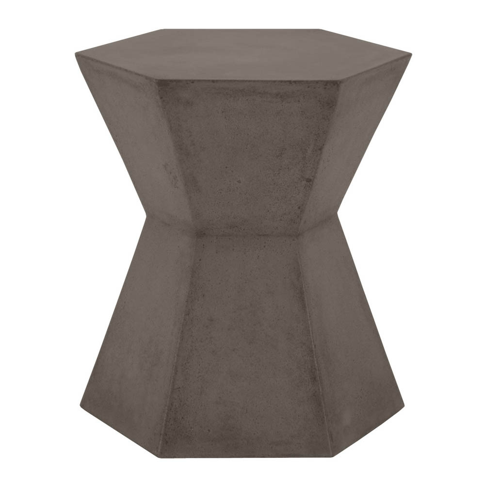 Bento Accent Table - 4610.SLA-GRY 17.5 x 15 x 19 H inches Concrete Slate Grey