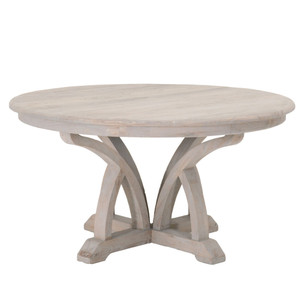 Carnegie Round Dining Table - 8041KD.SGRY-ELM 60 dia x 31 H inches Reclaimed Elm Wood