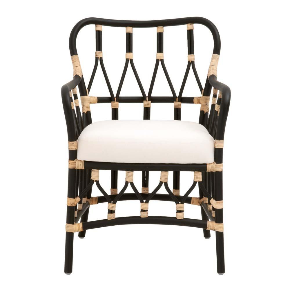 Caprice Arm Chair - 3636.BLK-NAT/BLCH 23.25 x 24.5 x 34.25 H inches Black