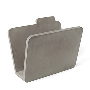 Hard Case Magazine Rack 14 x 8 x 11.75 H inches Concrete