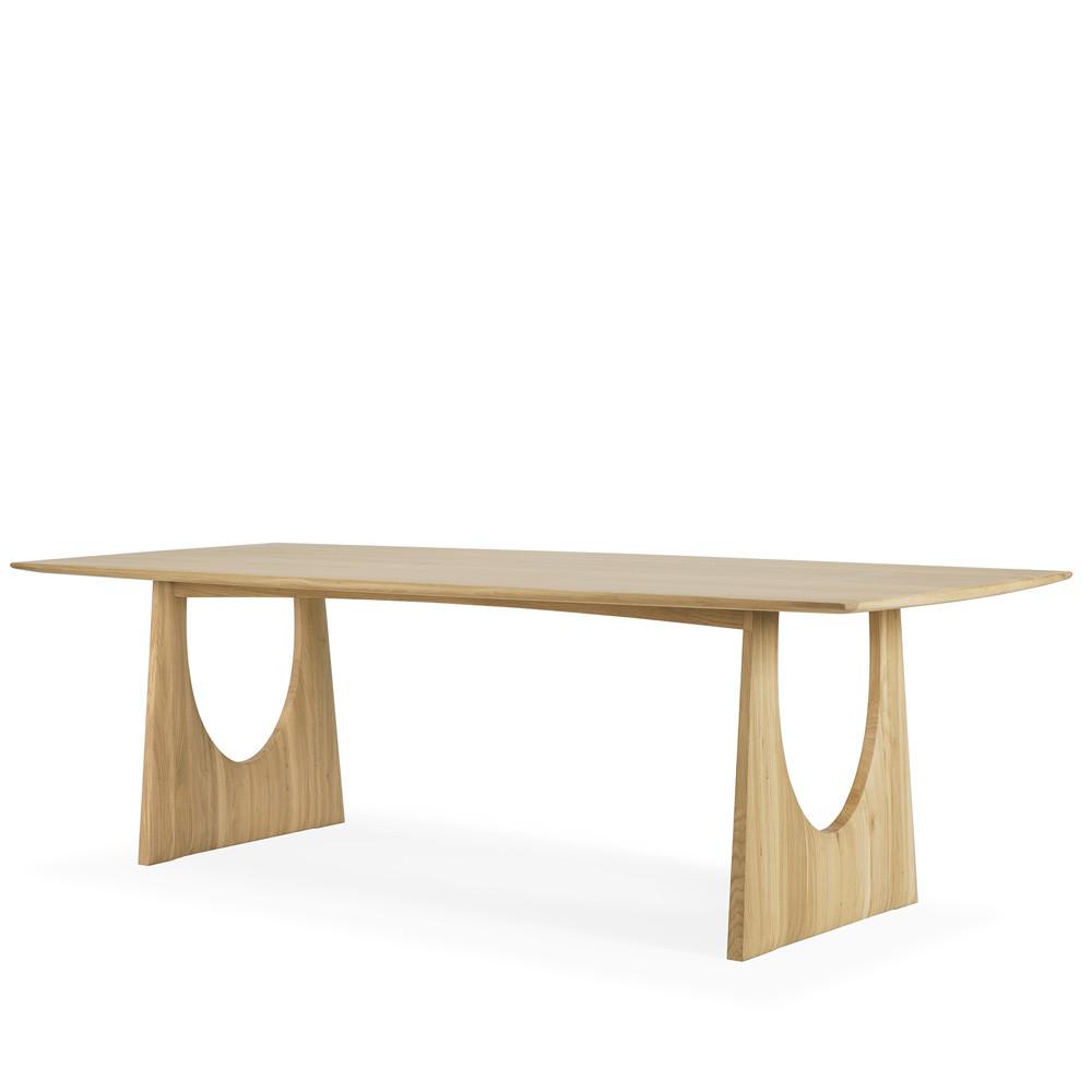 Oak Geometric Dining Table 98.5 x 39.5 x 30 H inches Oak Wood