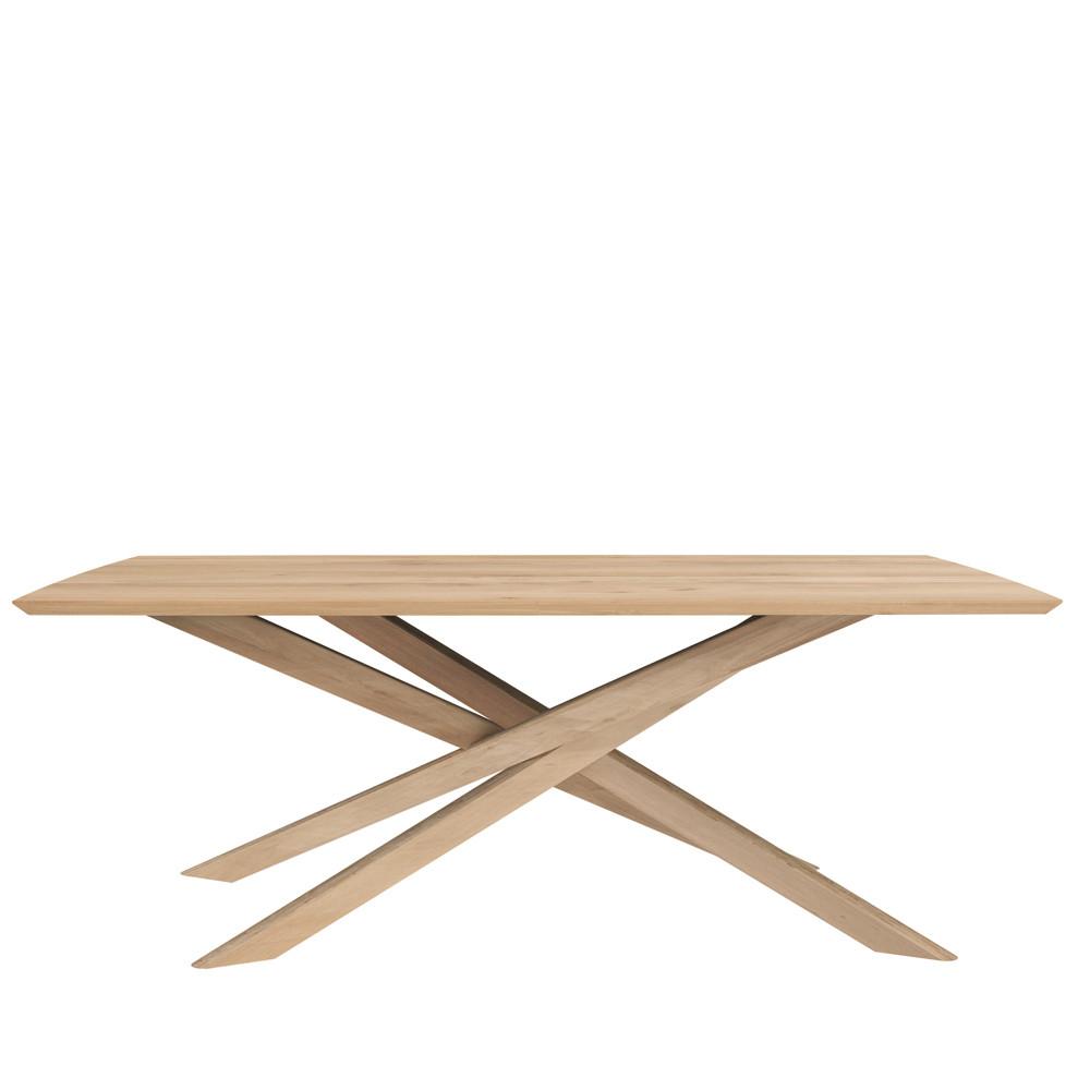 Oak Mikado Dining Table - 50179 80 x 42 x 30 H inches Oak Wood