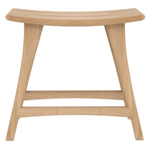 Oak Osso Stool - 53033 20 x 13 x 19 H inches Oak Wood Natural