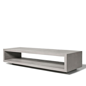 Open Wide Concrete Bench 59 x 17.75 x 12.5 H inches Concrete