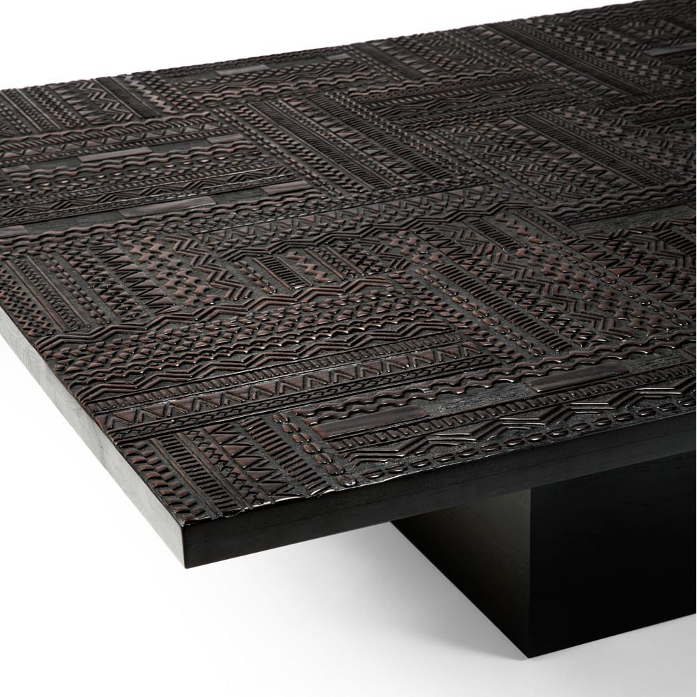 Teak Tabwa Bloc Coffee Table 67 x 47.5 x 14.5 H inches Teak, Oak