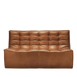 N701 Two Seat Sofa 55.5 x 36 x 30 H inches, 17 inch seat height Leather