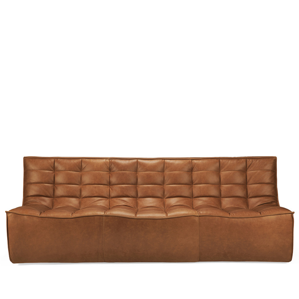 N701 Three Seat Sofa 83 x 36 x 30 H inches, 17 inch seat height Leather