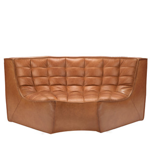 N701 Sofa Round Corner - 20079 47.5 x 47.5 x 30 H inches, 17 inch seat height Leather