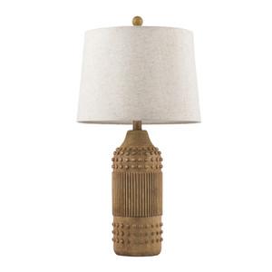 Lutten Table Lamp - LTT-002 14 dia x 26 H inches Ceramic Composite, Linen Brown