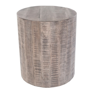 Troy End Table - TOE-003 16 dia x 18 H inches Wood Grey