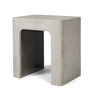 Rounding Up Concrete Stool 16.5 x 12.5 x 17.75 H inches Concrete