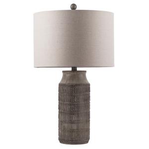 Imelda Table Lamp - IMD-005 15 dia x 26 H inches Ceramic Composite, Linen