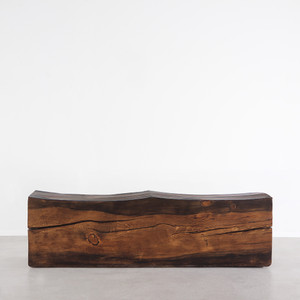 Contorno Solid Wood Bench 14 x 48 x 18 H inches Honey Brown Finish