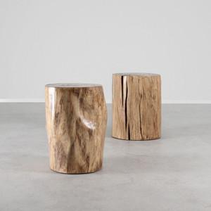 Pale Rider Cottonwood Stump Table 15 diameter x 20 H inches